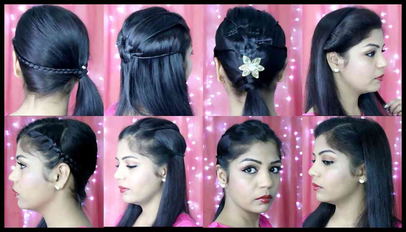 4 quick and easy hairstyles | indian party heatless