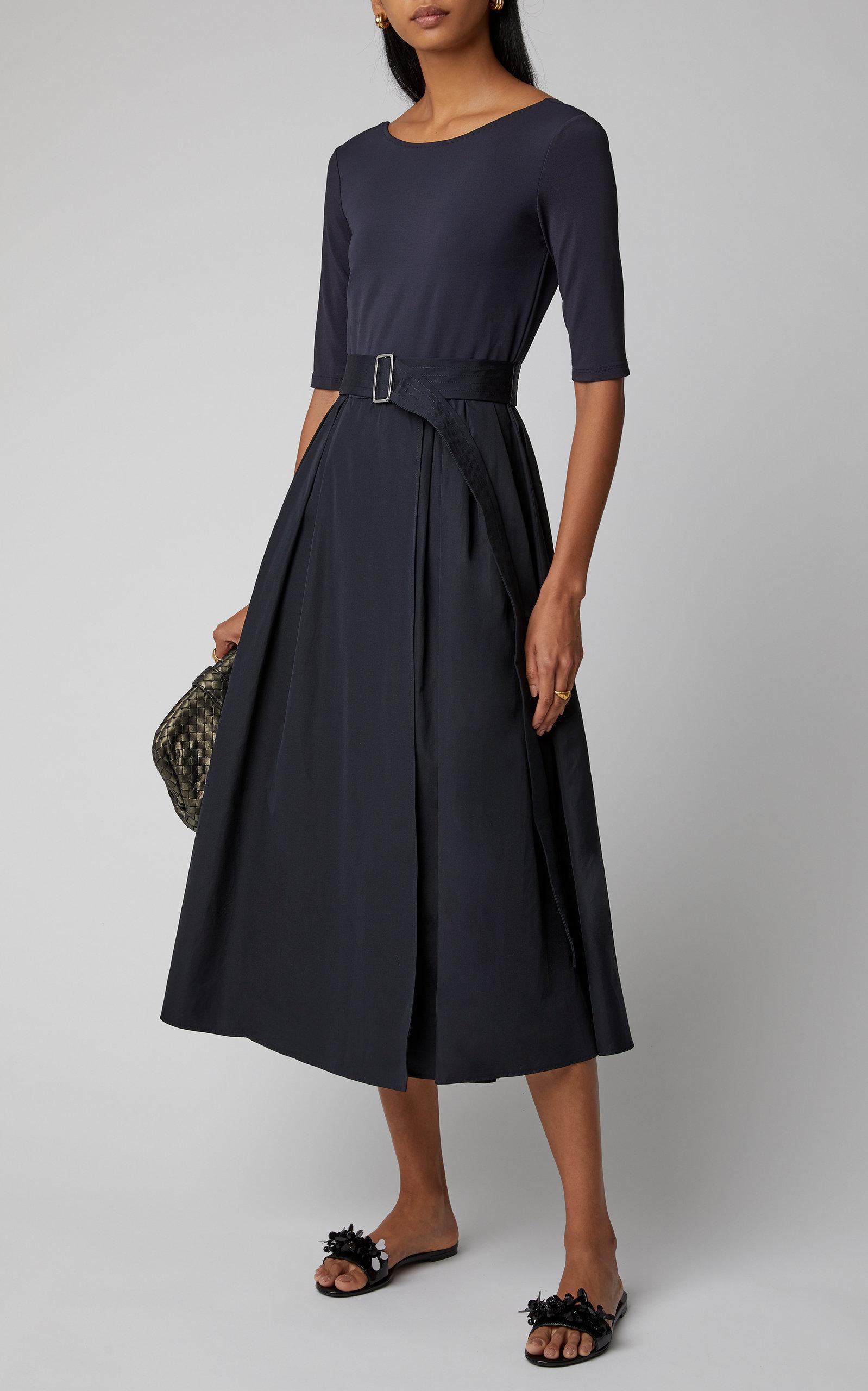 Max Mara Stretch Jersey Midi Dress Fashion Womens Sheath Dress Designer Midi Dresses [ 2560 x 1598 Pixel ]