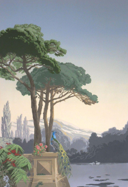 Papier Peint Panoramique Paysage panoramique | peintures murales de papier peint, peinture