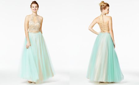 Say Yes To The Prom Juniors 2 Pc Embellished Ball Gown A Macys