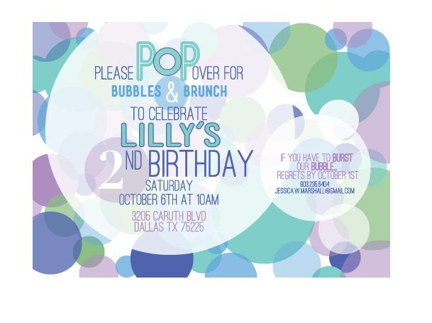 1000 images about bubble party – Bubble Invitations Birthday