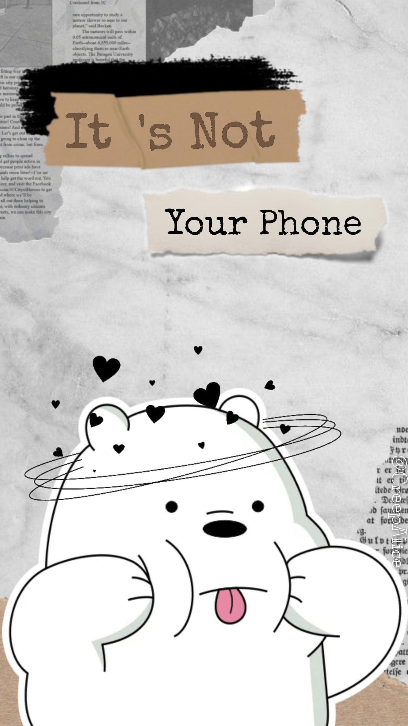 we bare bears | aesthetic wallpaper | white | ice bear || między nami misiami | lodomir