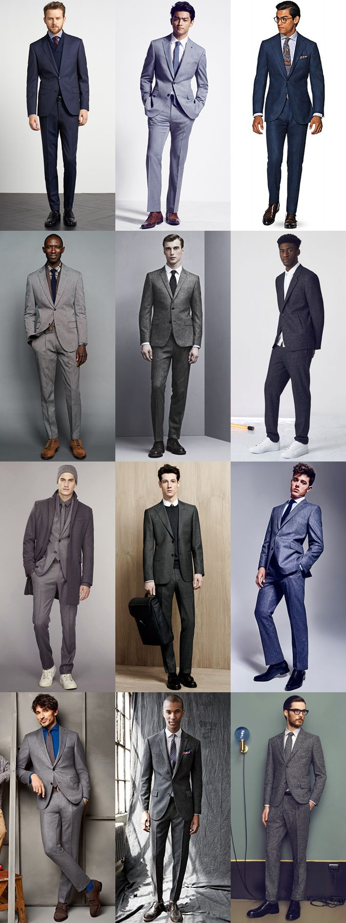 Flannel lookbook men  Menus Neutral Flannel and Wool Suits Outfit Inspiration Lookbook