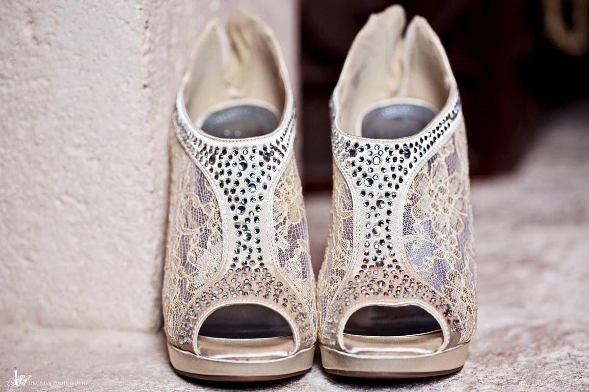 #wedding #shoes #heels #ivory  Lisa Silva Photography