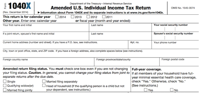 Fixing Your Mistakes Filing An Amended Return Tax Return