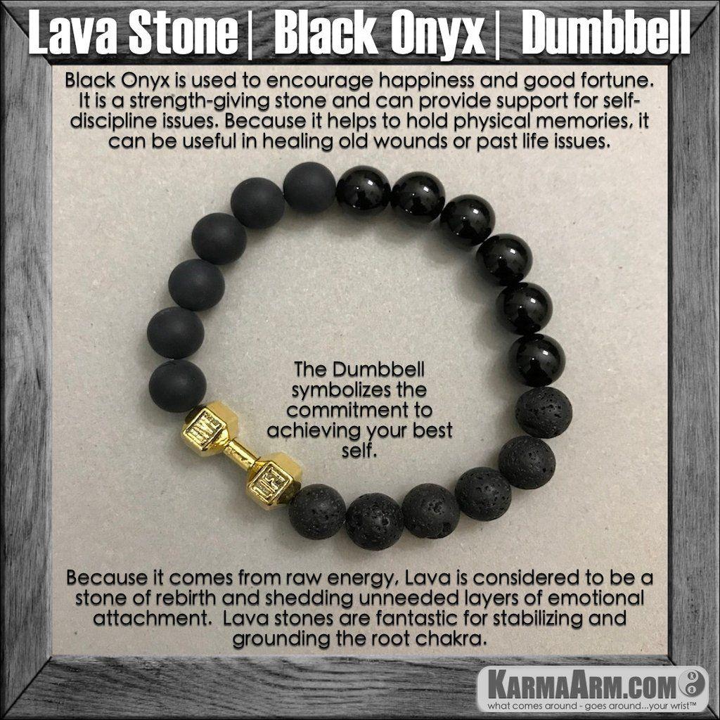Mala Yoga bracelet - meditation | Karma Arm | mens womens charm chakra beaded stacks. Lava Stone Black Onyx. Gold Barbell Dumbbell. Fitness | Weight lifting | Barbell | Dumbbell | Spinning Bracelets. Motivation | Law of Attraction ====== Karma Arm: Yoga Bracelets / Men's & Women's Beaded Mala / Handmade Luxury / Law of Attraction / Organic Chakra Healing Energy / Friendship & Love / Free Shipping.