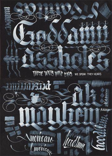 hand drawn caligraphy   by Jeb WoutersLetman