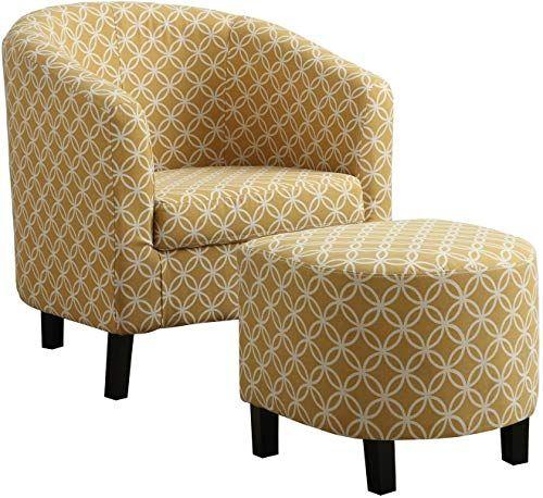 New Monarch Specialties Burnt Yellow Circular Fabric