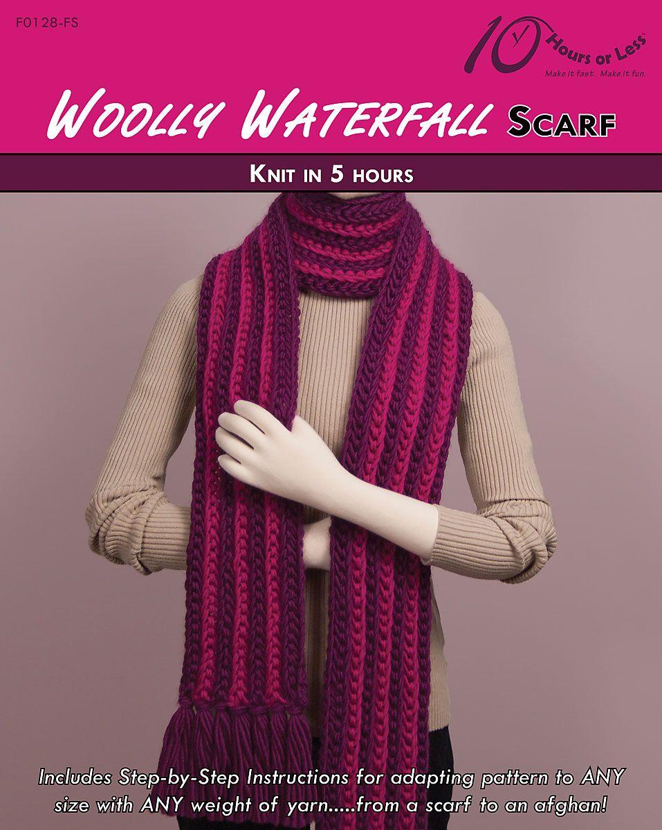 Waterfall Scarf Knitting Pattern Gallery - handicraft ideas home ...