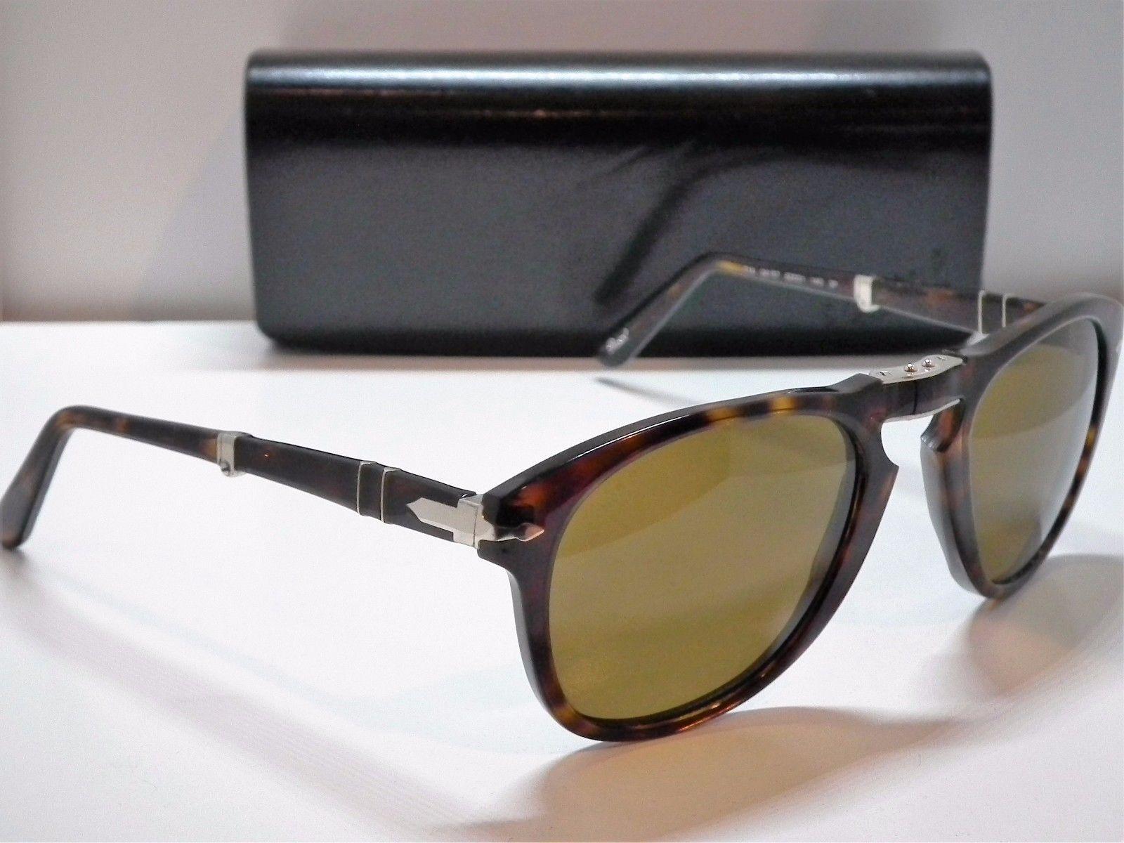 9abe17e1f81371 Authentic Persol 714 24 57 Steve McQueen Folding Havana Polarize Sunglasses - 390