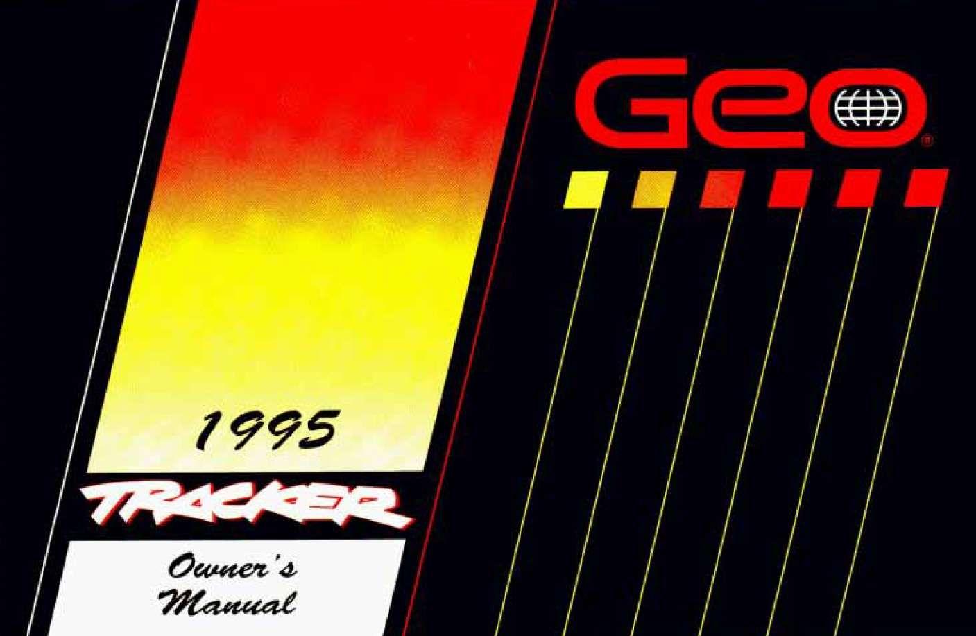 Chevrolet Tracker 1995 Owner S Manual Has Been Published On Procarmanuals Com Https Procarmanuals Com Chevrolet Tracke Owners Manuals Chevrolet Camaro Manual