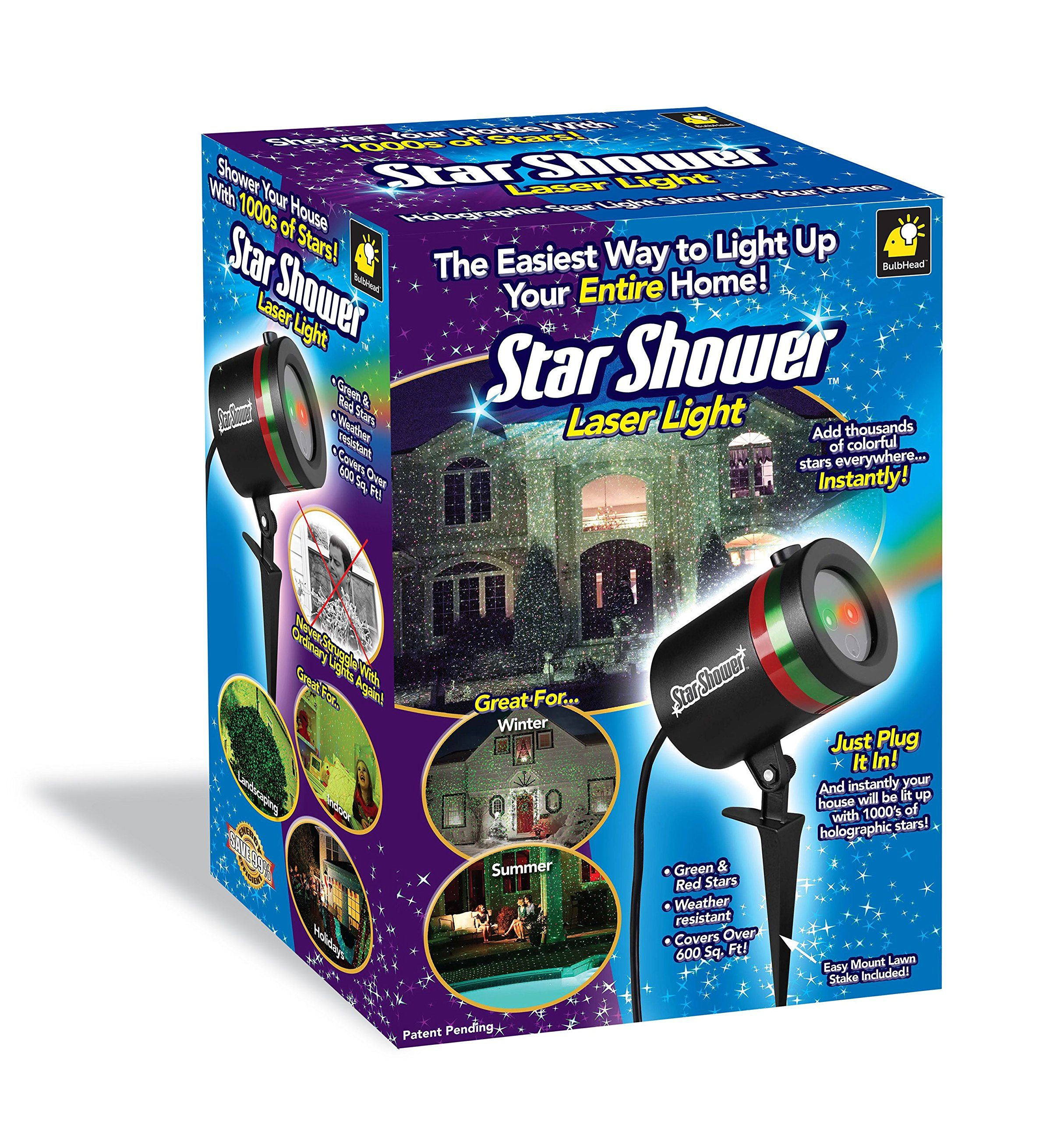Star Shower Outdoor Laser Christmas Lights, Star Projector ...