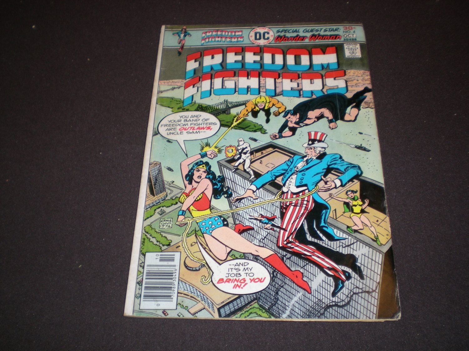 Freedom Fighters 4, Wonder Woman, 1976, DC Comics by HeroesRealm on Etsy