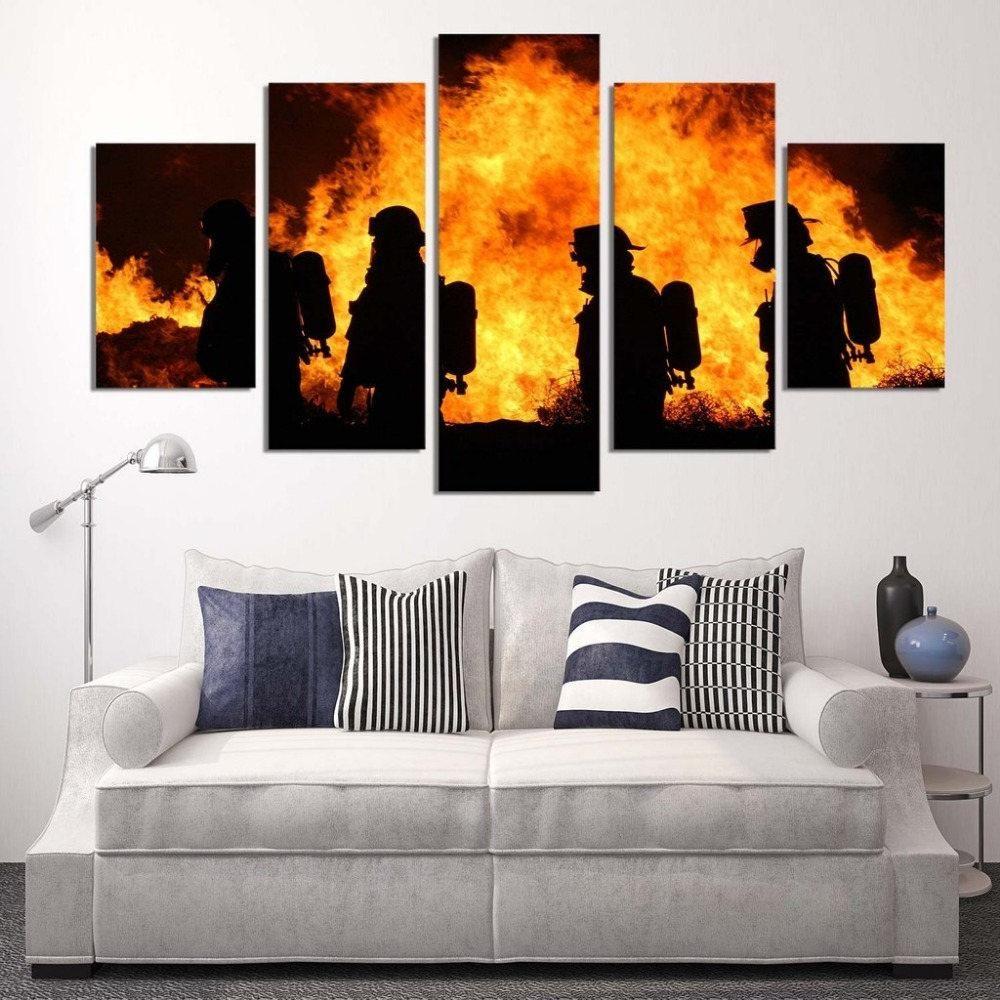 Firefighter Our H Http Homewalldeco Com Products Firefighter Our Hero Canvas Wall Art Canvas Living Room Canvas Painting Wall Canvas Painting Wall Canvas