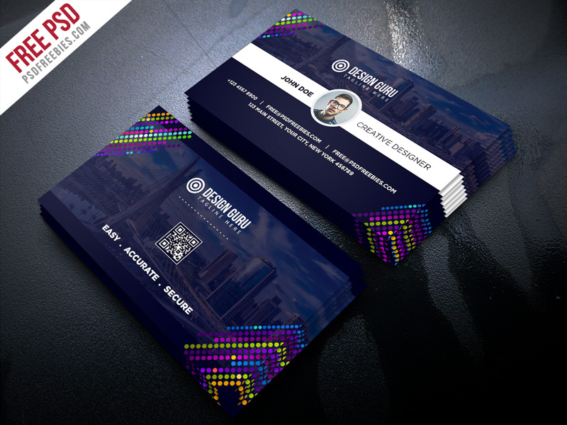 Creative Business Card Template Free Psd Uxfree For Unique Business Ca In 2020 Business Cards Creative Templates Free Business Card Templates Business Cards Creative