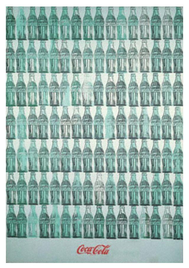 andy warhol green coca cola bottles