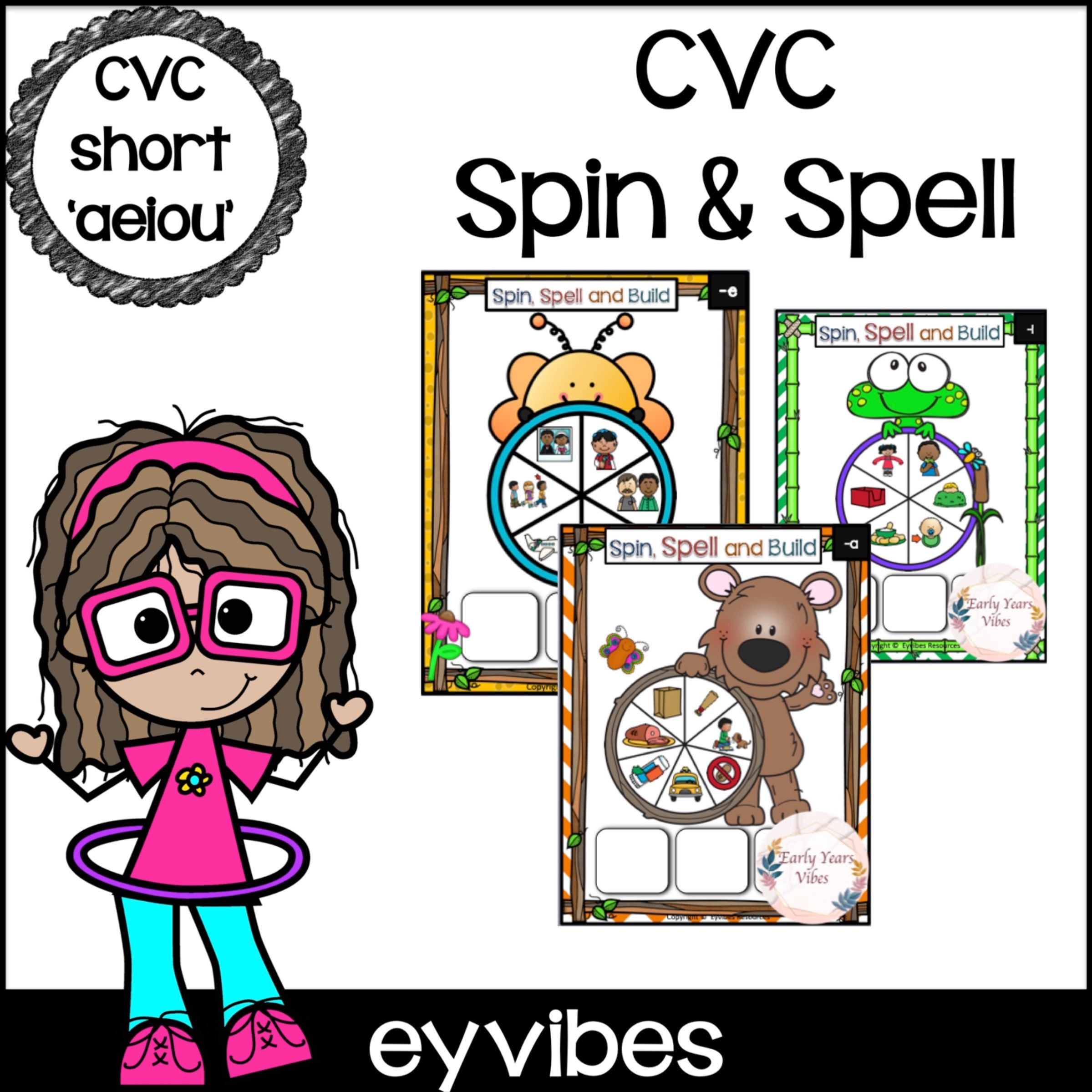 Cvc Spin And Spell In With Images