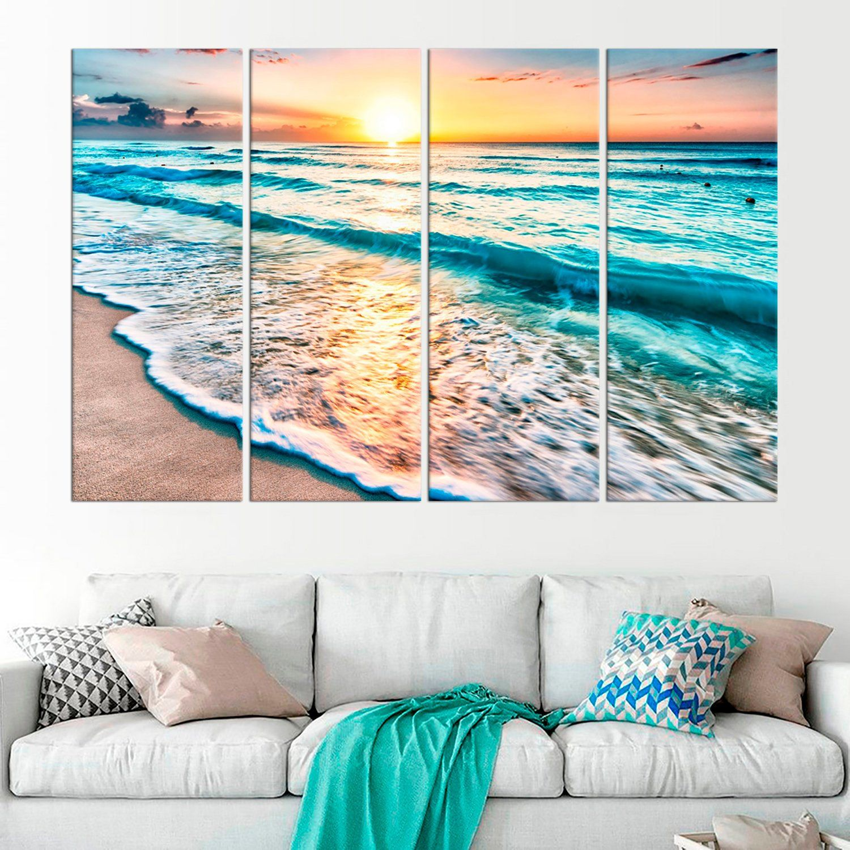 Ocean Wall Art Beach Wall Decor Ocean Large Canvas Print Sand Etsy Ocean Wall Art Beach Wall Decor Beach Mural