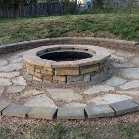 Natural Concrete Products Co Random Stone Fire Pit Backyard Outside Pits