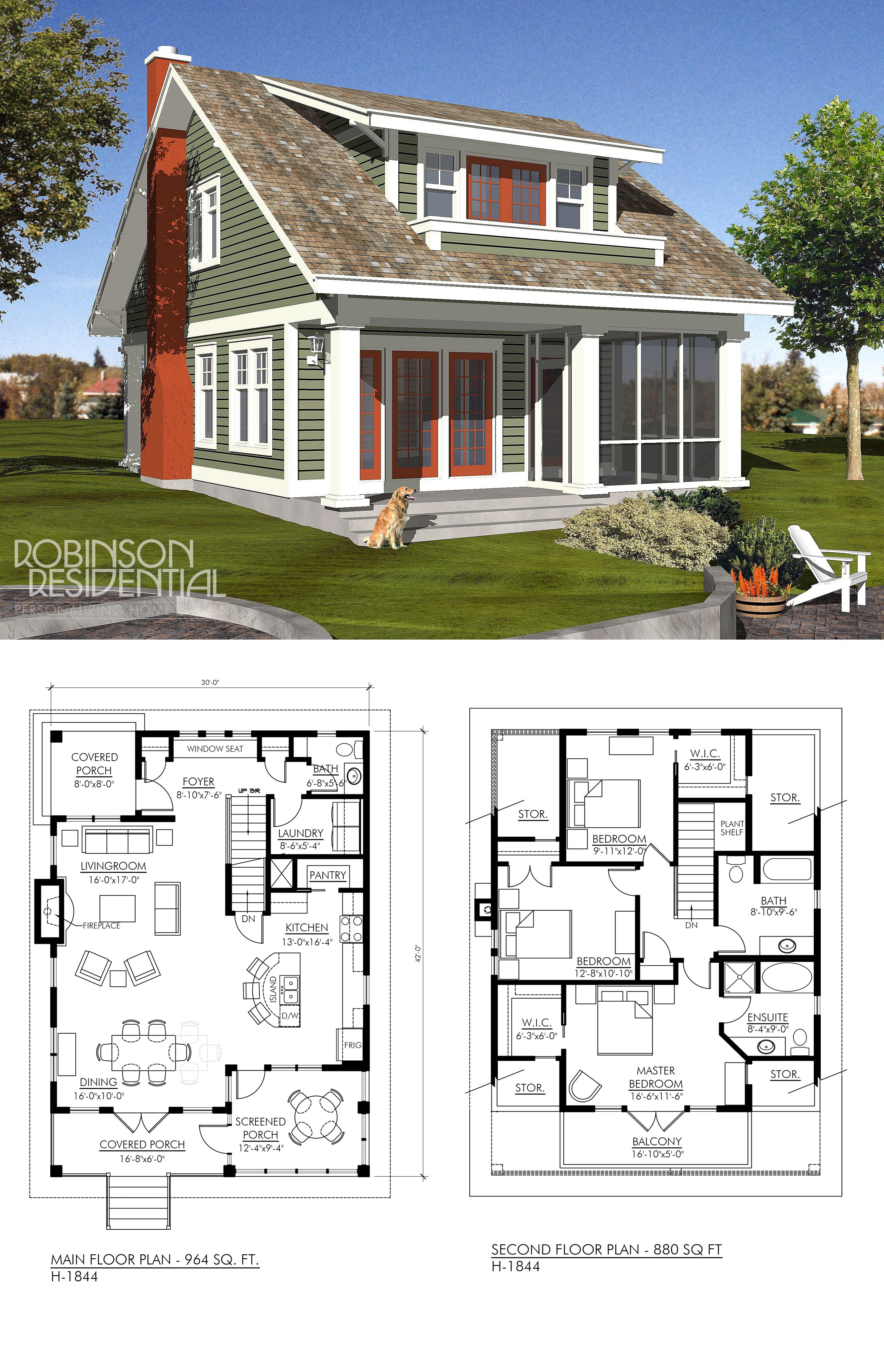 Craftsman H 1851 Cottage Floor Plans Lake House Plans Small