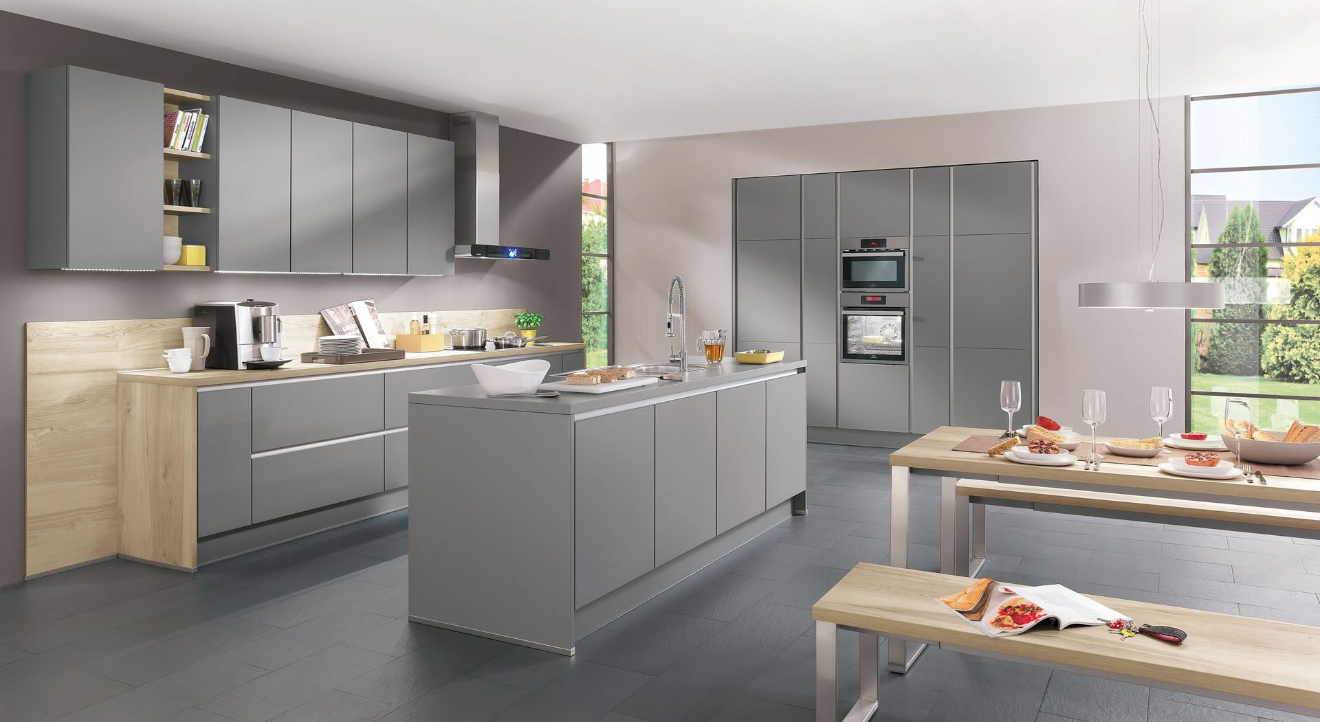 Cuisine Melun  Cuisine gris, Cuisines design, Intérieur moderne