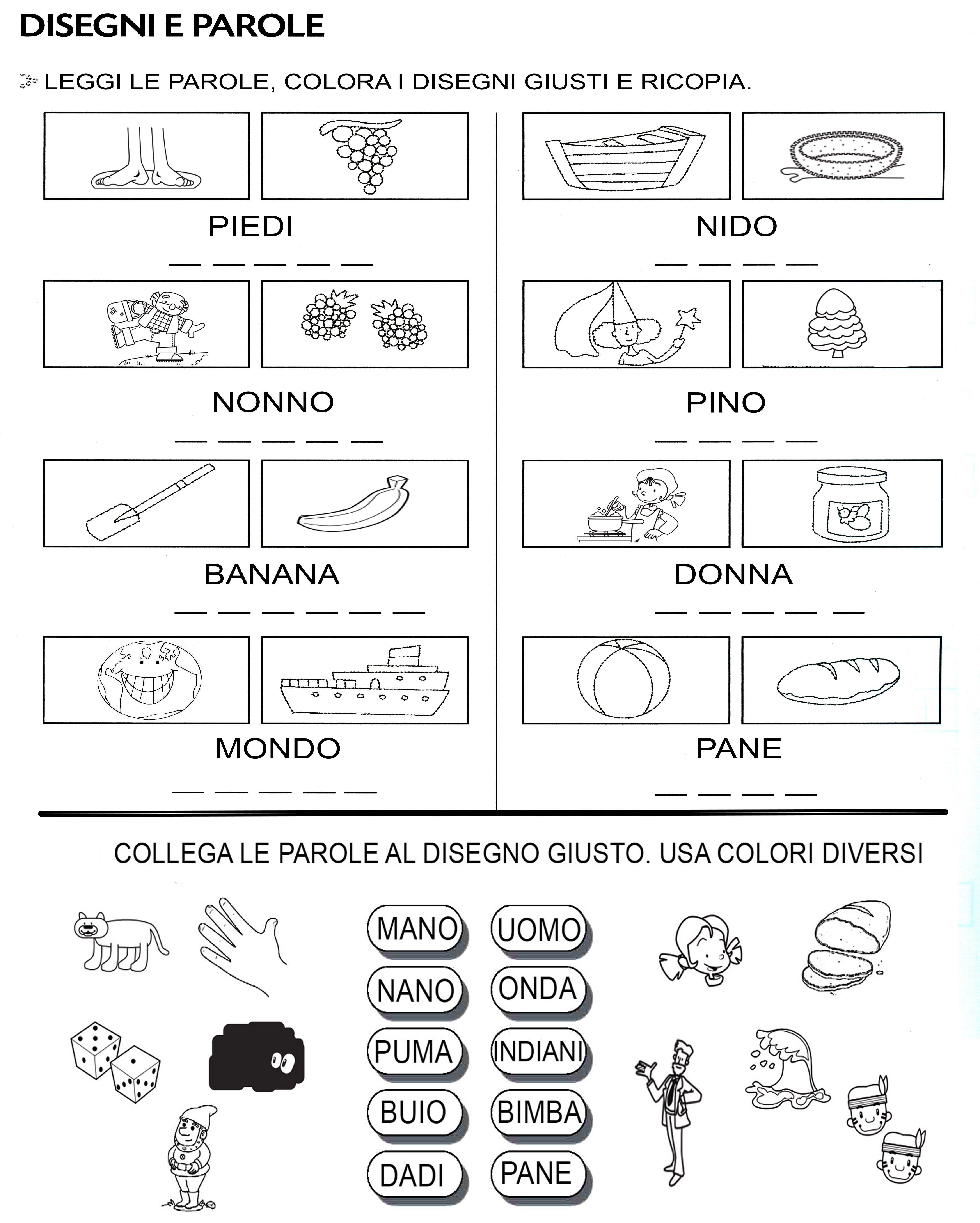 Lettura italiano italian lessons school e education for Parole capricciose esercizi