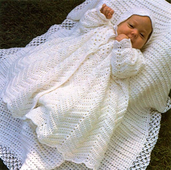 Free pattern Friday.. Christening Coat and Bonnet....Leisure Arts ...