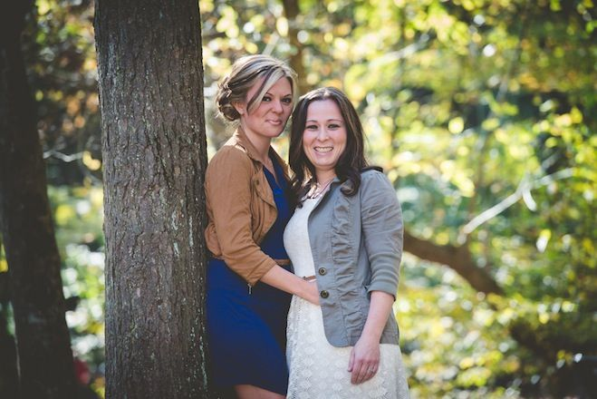 Jen and Ashlee are engaged! Photos by BG Productions / http://www.bgproonline.com. Read more on EquallyWed.com. #lesbian #engagement #lgbtq