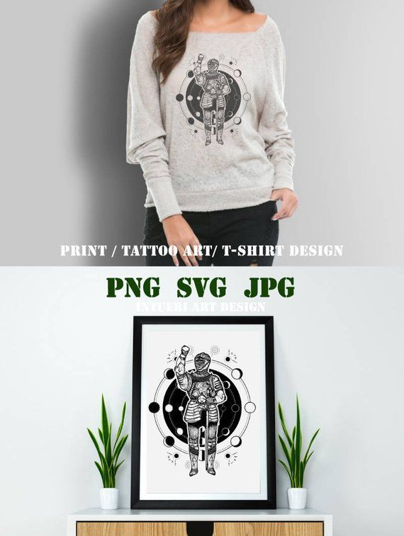 503c0f33adc63 Medieval knight svg Medieval knight tattoo art. Esoteric symbol ancient war,  lunar phases. Medieval