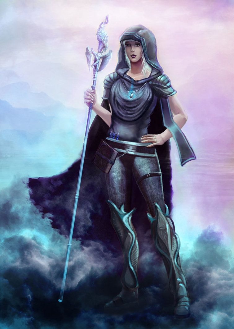 wizard of leandriss church by keleus female casters pinterest