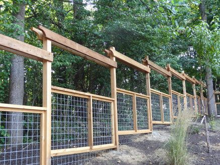 Deer Proof Cedar Fence With Goat Panel Bottom How About