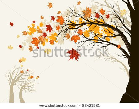Fall Leaves Dancing Wallpaper Autumn Tree Vector Free Free Vector For Free Download