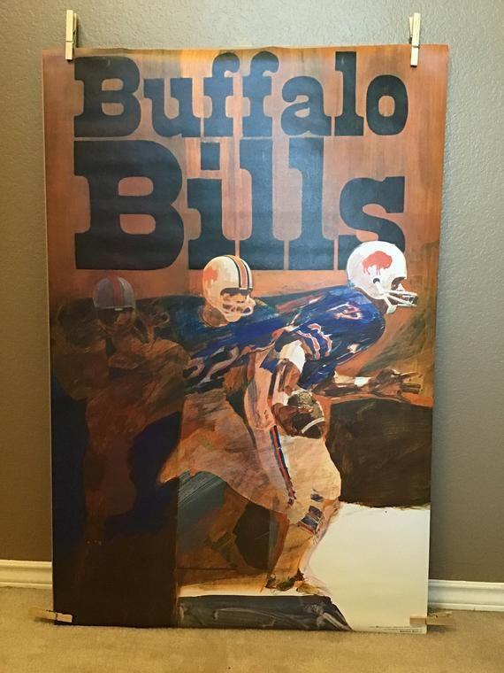66d0c33f Vintage Buffalo Bills Poster // 1970s Sports Memorabilia | Products ...