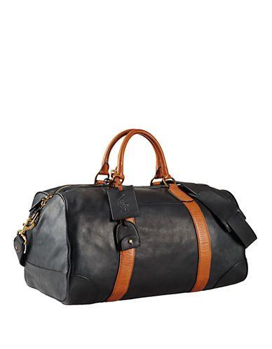 95b447e13542 Polo Ralph Lauren Two-Toned Leather Duffel Bag Men s Black ...