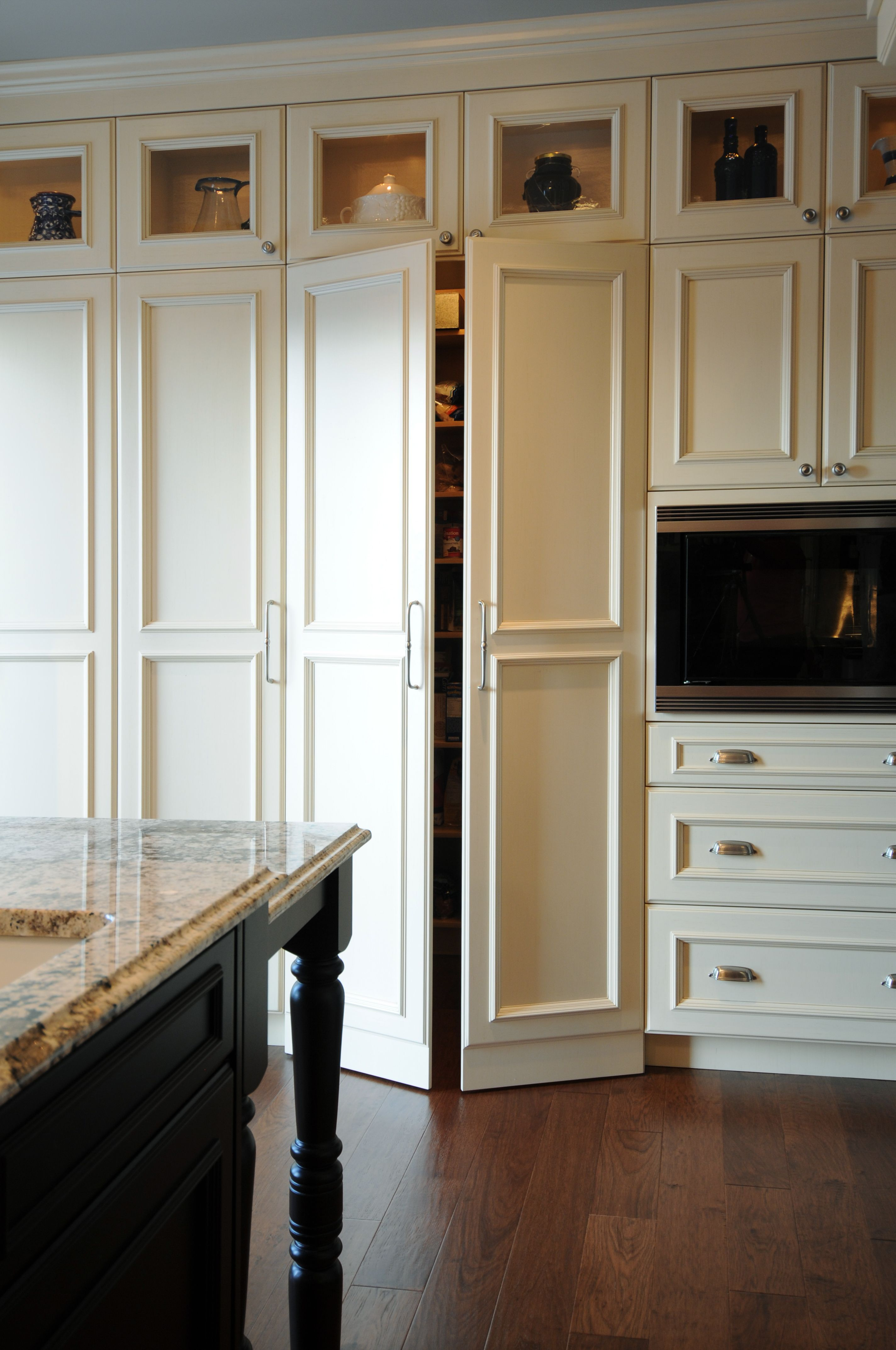 Built In Kitchen Pantry Cupboards Of Storage And Even A Coffee Maker