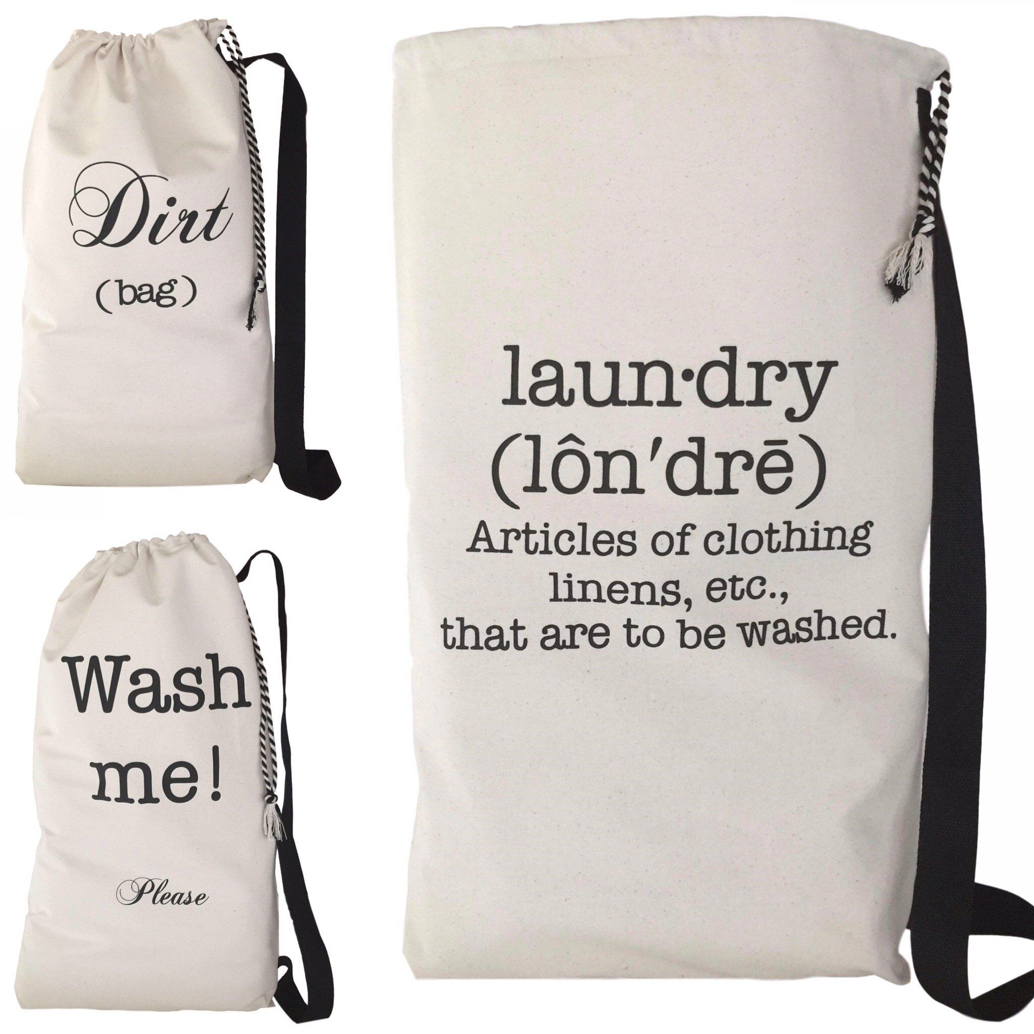 Stop Dragging Around That Plastic Laundry Basket To The Laundromat This Canvas Laundry Bag Lets You Store Multiple Laund Laundry Bag Large Laundry Bag Laundry