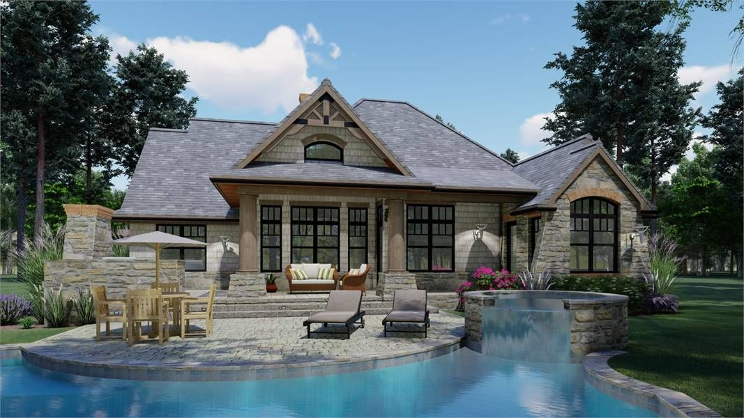 Beautiful Craftsman Style House Plan 1897 Vita Encantata
