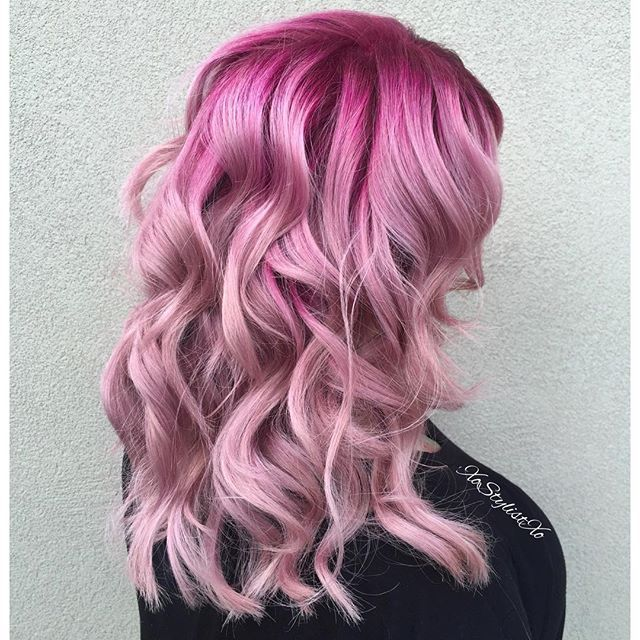 pink hair color ash fortis