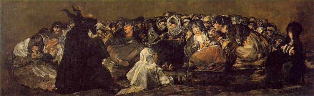 Witches 'Sabbath porción Francisco de Goya