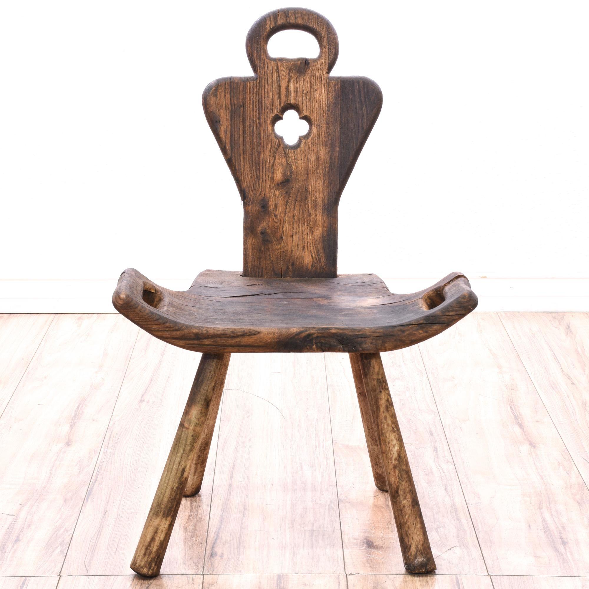 Antique Arts & Crafts Birthing Chair Antique art