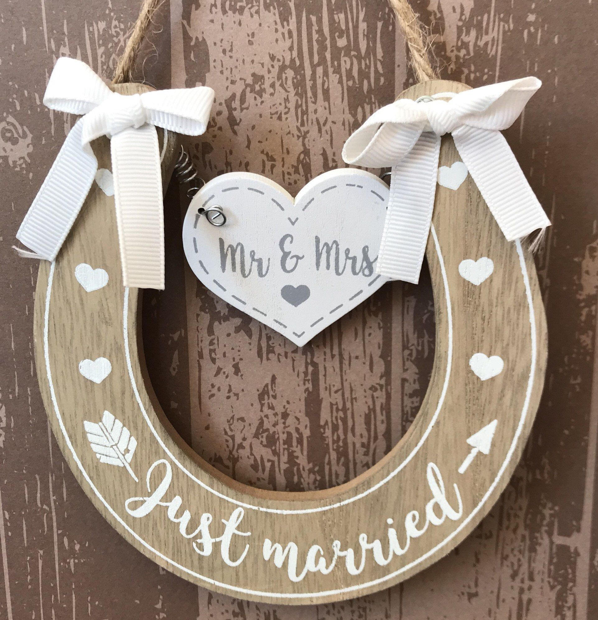 Horseshoe Gift For The Married Couple Wedding Gift Bride Gift For
