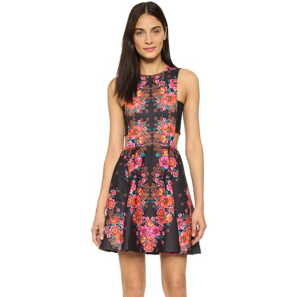 Ronny Kobo Yani Floral Dress ($410) ❤ liked on Polyvore featuring dresses, multi, floral sleeveless dress, floral dress, flared skirt, floral pattern dress and torn by ronny kobo dress