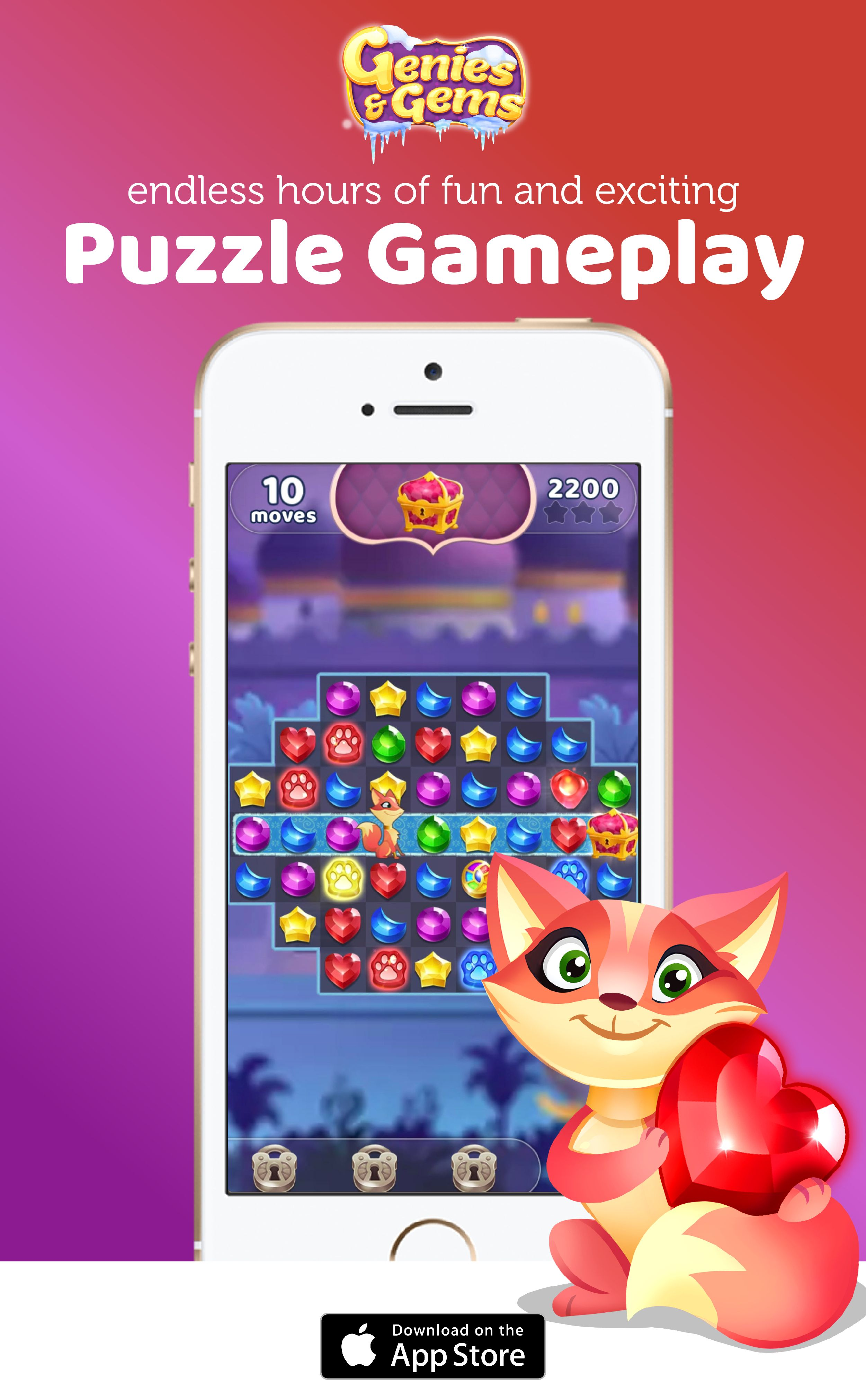 Play the new Genies and Gems Game, download today! | Created