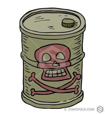 Toxic Barrel | Barrel, Cartoon drawings, Skull, crossbones