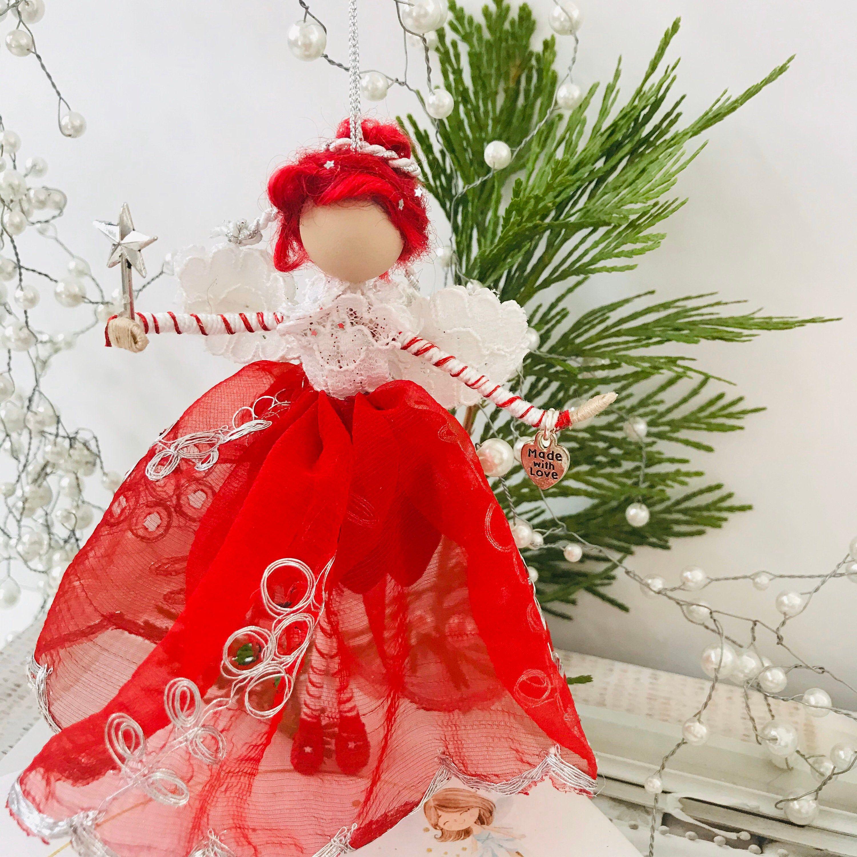 Christmas Fairy Ornament | Christmas fairy, Red skirts ...