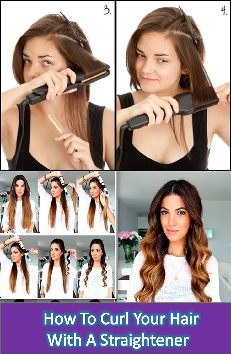 Do You Want To Know How To Curl Your Hair With A Straightener This Is Very Simple All That Yo How To Curl Your Hair Hair Without Heat How To Curl
