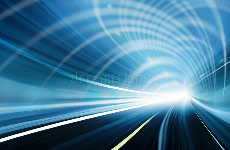 Blue Abstract Blurred Speed Motion In Urban Highway Tunnel Moving Toward The L Sponsored Affiliate Ad Blurr Blue Abstract Abstract Stock Illustration