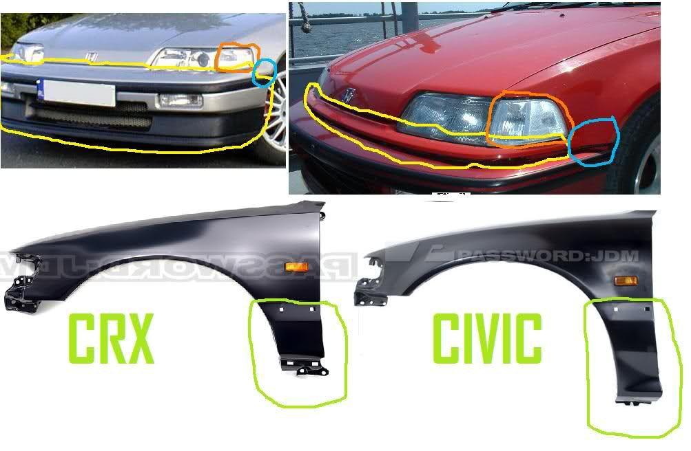 88-91 Civic & Crx parts Interchangability | Errryting Honda ...