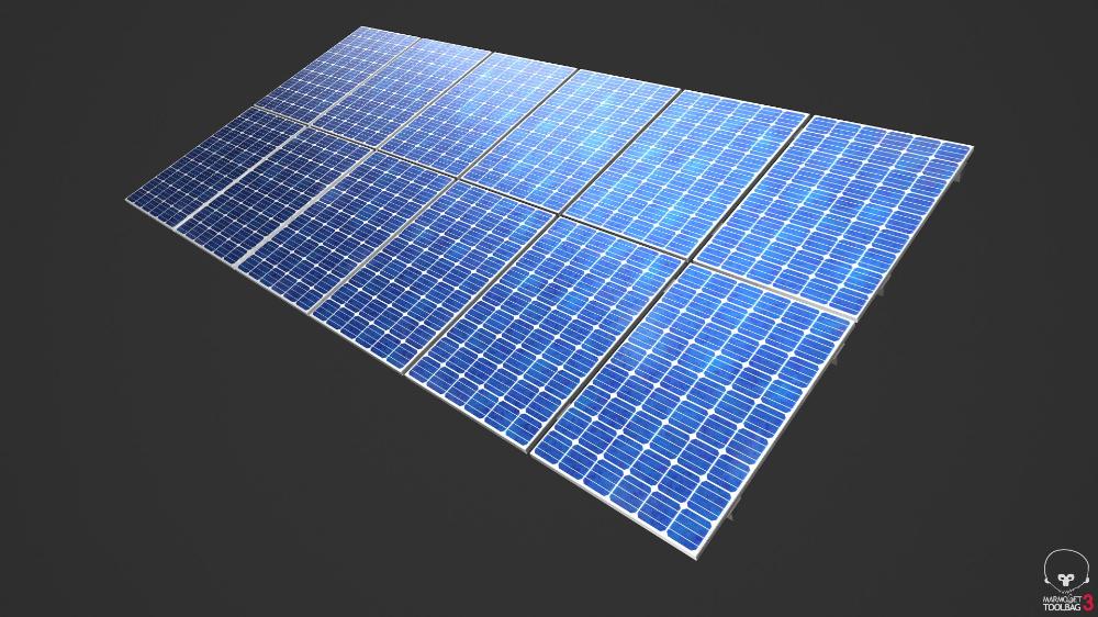 Solar Panels Pbr 3d Model Solar Panels Solar Roof Solar Panel