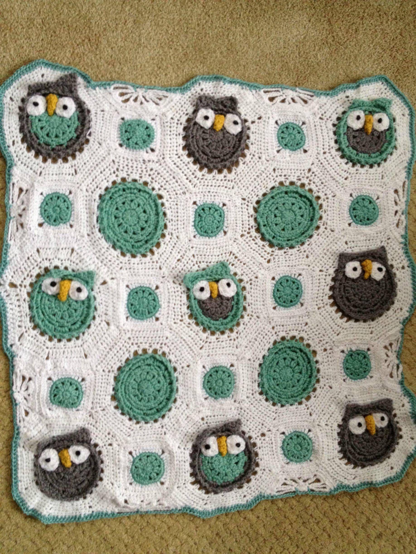Crochet owl blanket!   Crochet   Pinterest   Crochet owl blanket ...